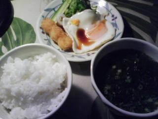 きょうの朝食/ 白いご飯と味噌汁