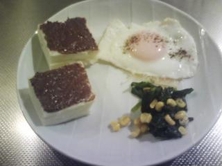 きょうの朝食/ チョコサンド